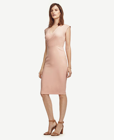 Image of Petite Draped Sheath Dress