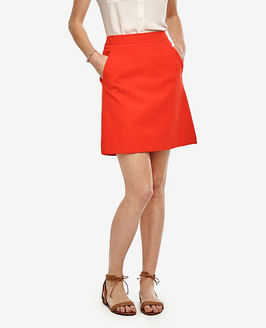 Image of Compact Twill Skirt