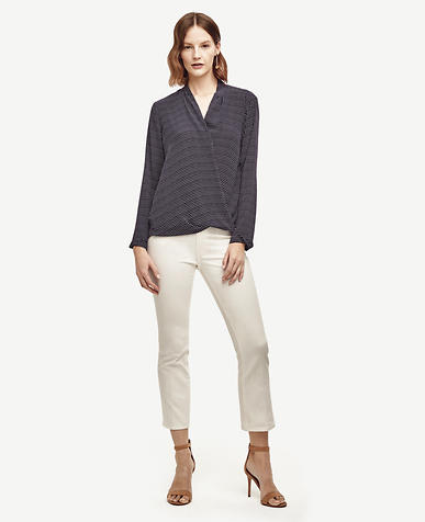 Image of Dashed Wrap Blouse