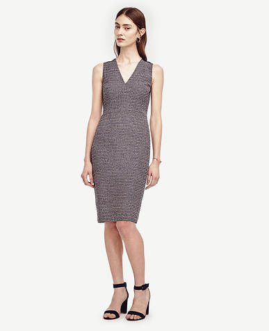 Image of Petite Tweed Sheath Dress