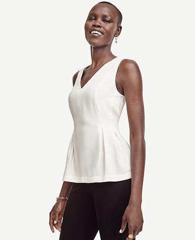 Image of Petite Crepe Peplum Top