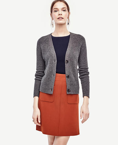 Image of Ribbed Cashmere Cardigan