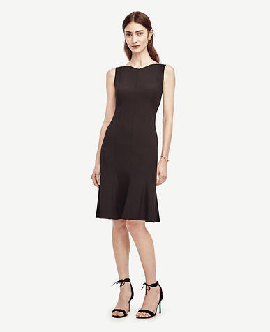 Image of Petite All-Season Stretch Flounce Dress