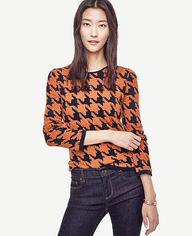 Image of Houndstooth Jacquard Sweater