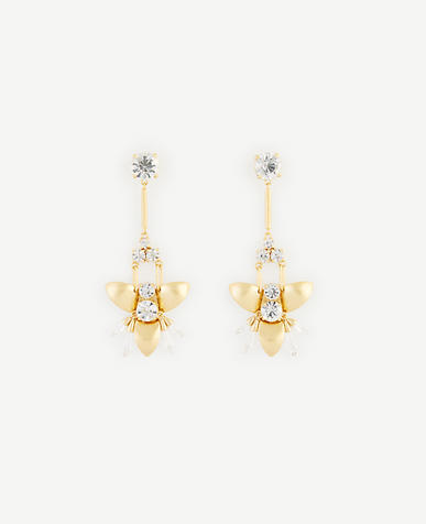 Image of Abstract Floral Chandelier Earrings