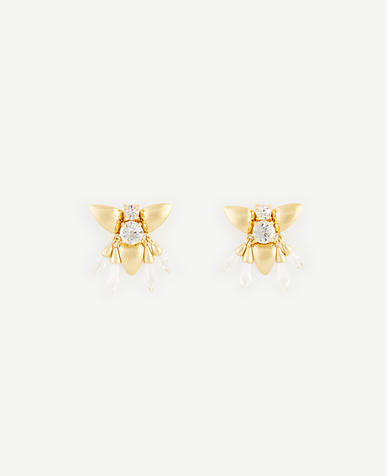 Image of Abstract Floral Stud Earrings