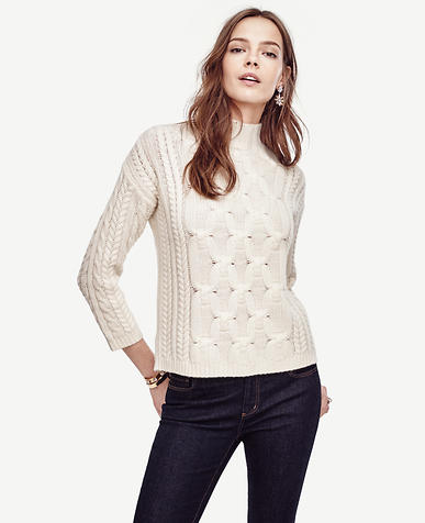 Image of Braided Cashmere Sweater