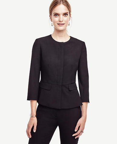 Image of All-Season Stretch Peplum Jacket