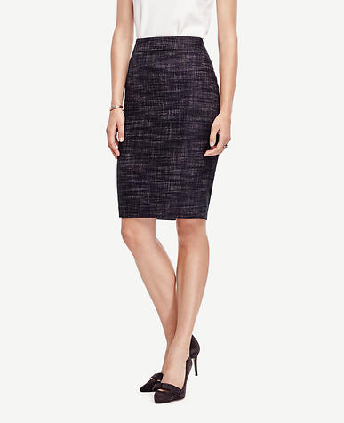 Image of Tall Crosshatch Tweed Pencil Skirt