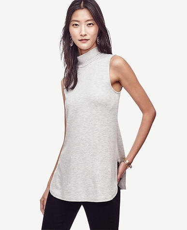 Image of Sleeveless Turtleneck Tunic