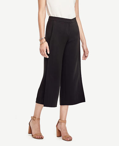Image of Petite Triacetate Wide Leg Crop Pants