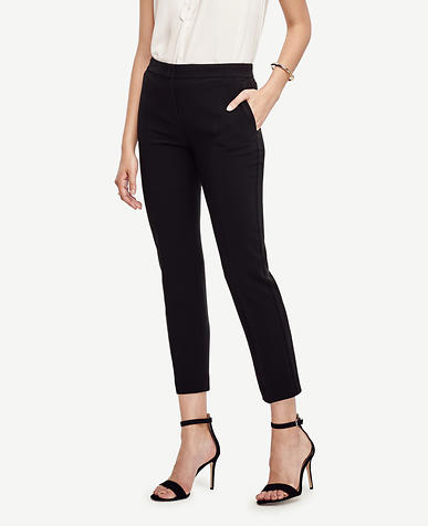 Image of Petite Triacetate Slim Ankle Pants