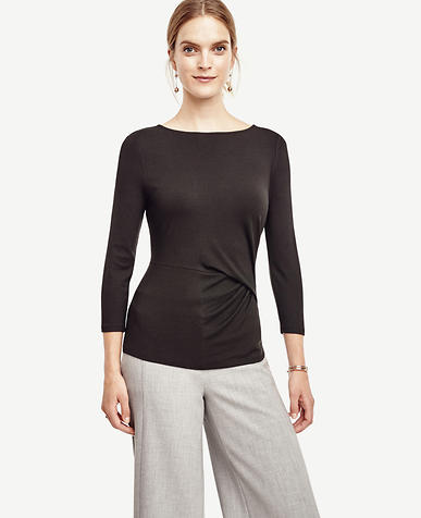 Image of Side Pleat Top