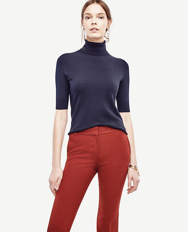 Image of Elbow Sleeve Turtleneck