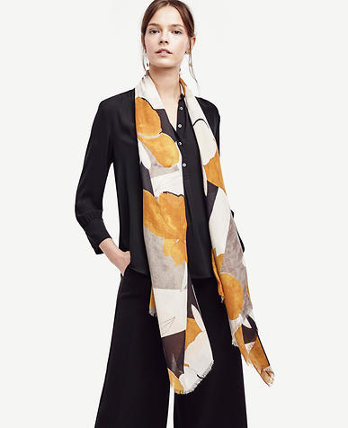 Image of Colorblock Floral Scarf