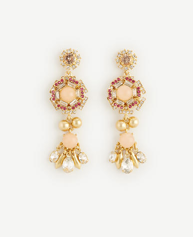 Image of Crystal Flora Drop Earrings
