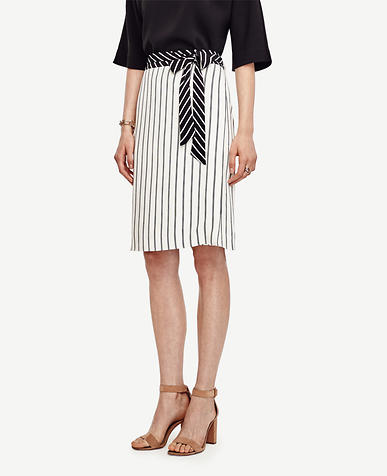 Image of Mixed Stripe Full Skirt