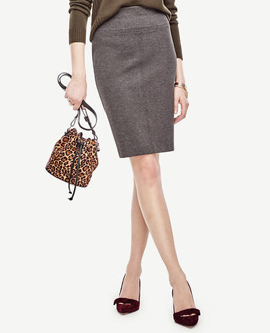Image of Ponte Pencil Skirt