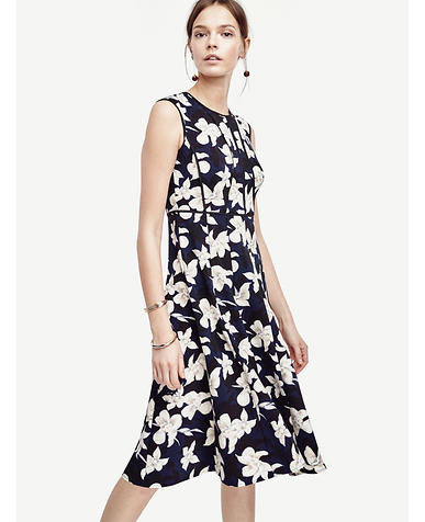 Image of Garden Blossom Fit and Flare Dress