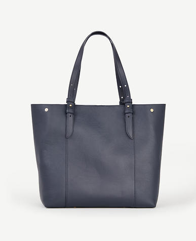 Image of Buckle Leather Tote