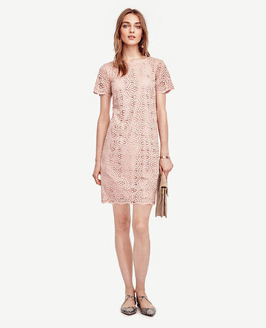 Image of Mosaic Lace Shift Dress