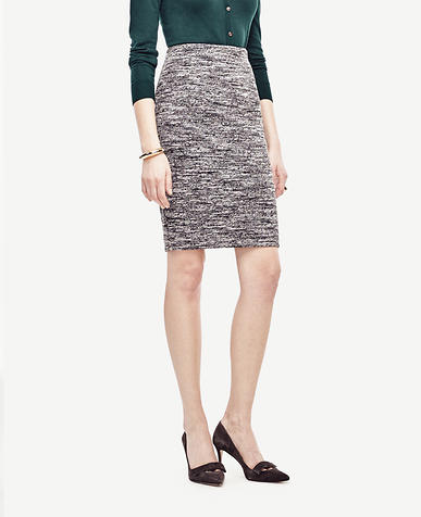 Image of Bonded Knit Pencil Skirt