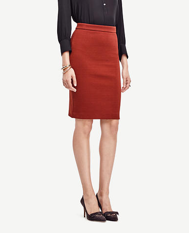 Image of Textured Knit Pencil Skirt