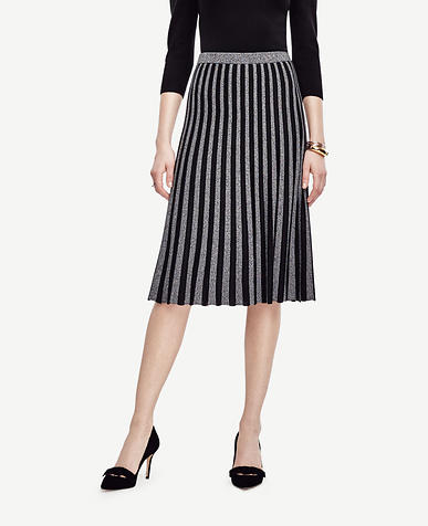 Image of Pleated Sweater Skirt