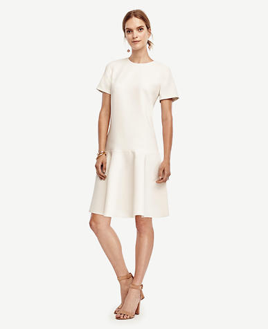 Image of Crepe Flounce Dress