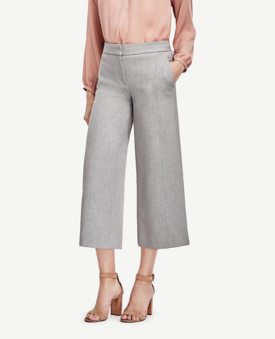 Image of Petite Wide Leg Crop Pants
