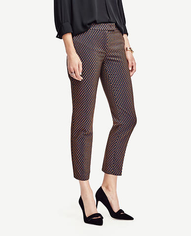 Image of Petite Devin Geo Jacquard Everyday Ankle Pants