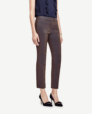 Image of Petite Kate Geo Jacquard Everyday Ankle Pants