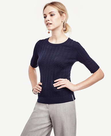 Image of Textured Dot Sweater