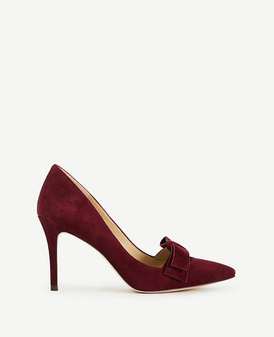 Image of Odette Suede Bow Pumps