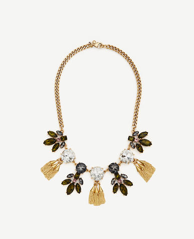 Image of Crystal Burst Tassel Necklace
