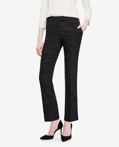 Image of Crosshatch Tweed Ankle Pants