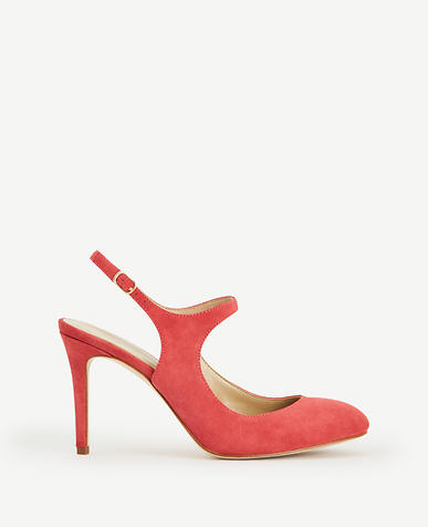 Image of Roslyn Suede Slingback Pumps