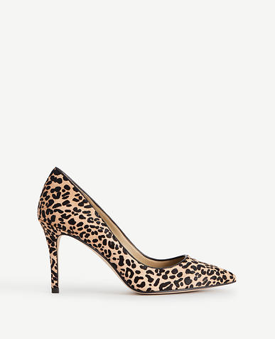 Image of Mila Leopard Print Haircalf Pumps