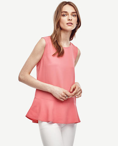 Image of Matte Jersey Peplum Shell