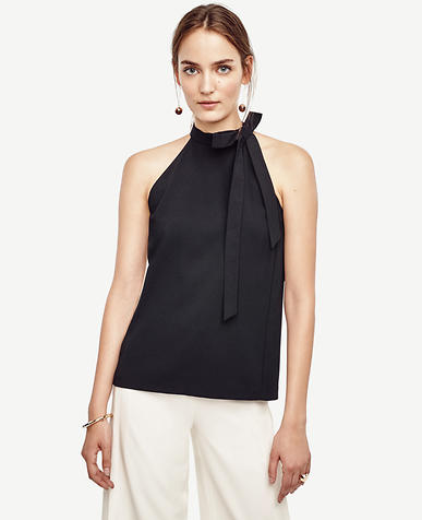 Image of Tie Neck Sleeveless Blouse