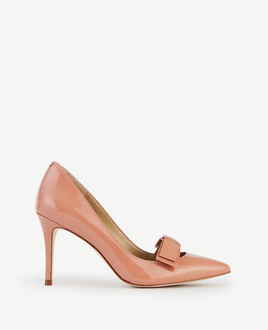 Image of Odette Patent Leather Bow Pumps