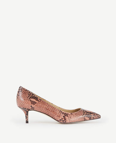 Image of Reese Exotic Embossed Leather Pumps