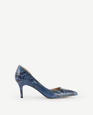 Image of Mari D'Orsay Exotic Embossed Leather Pumps