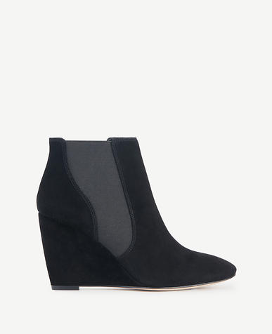 Image of Brigitte Suede Wedge Booties