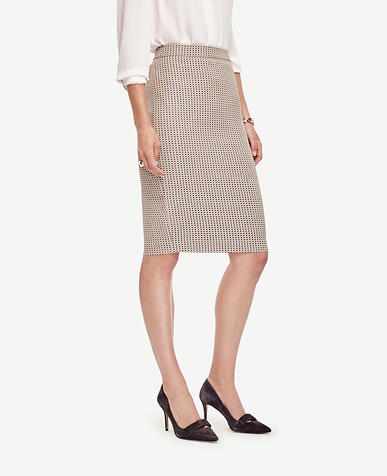 Image of Stretch Dobby Pencil Skirt