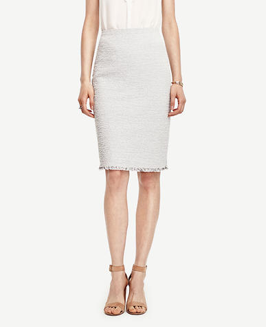Image of Petite Marled Pencil Skirt