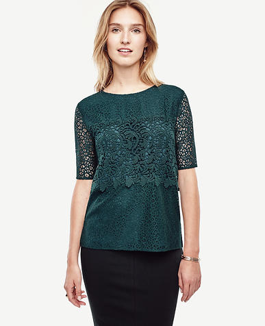 Image of Mixed Lace Top