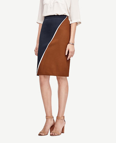 Image of Petite Colorblock Pencil Skirt