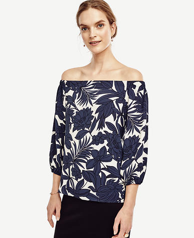 Image of Tropic Off the Shoulder Blouse