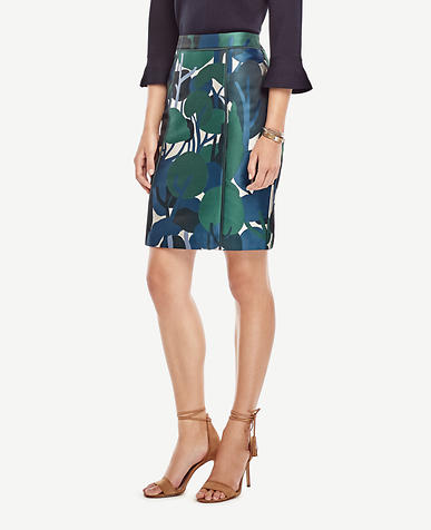 Image of Forest Bloom Pencil Skirt